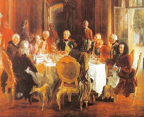 Gemälde Tafelrunde Friedrich der Grosse von Adolph Menzel