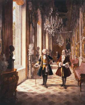 Voltaire und Friedrich der Grosse