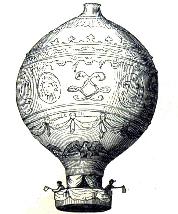 Luftschiff der Brüder Montgolfier