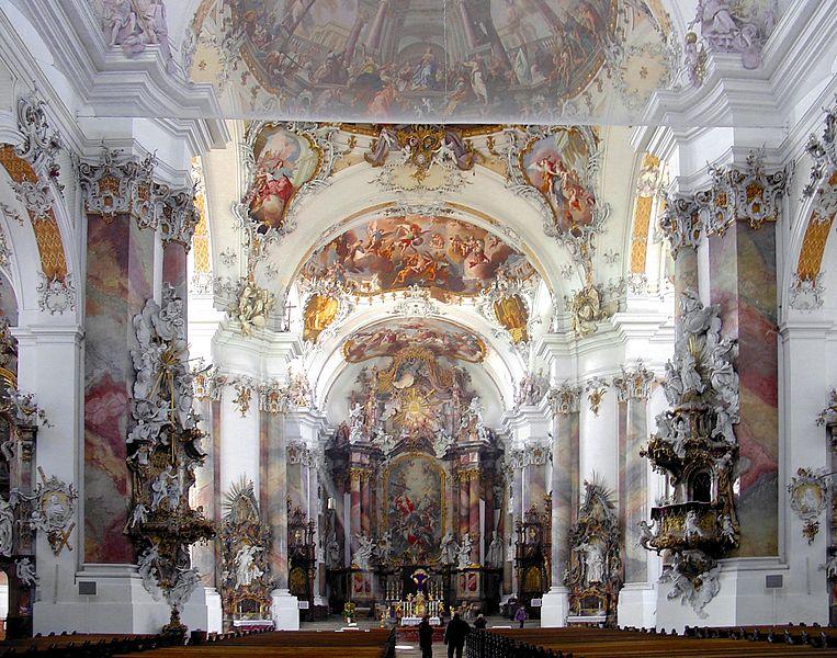 Fresken in der Basilika St. Alexander und Theodor in Ottobeuren
