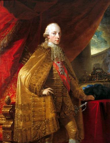 Der 25-jährige Kaiser Franz II. nach seiner Krönung 1792