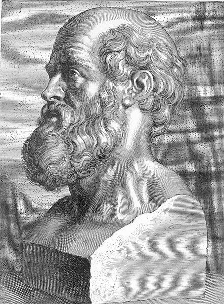 Hippocrates-Büste von J. G. de Lint