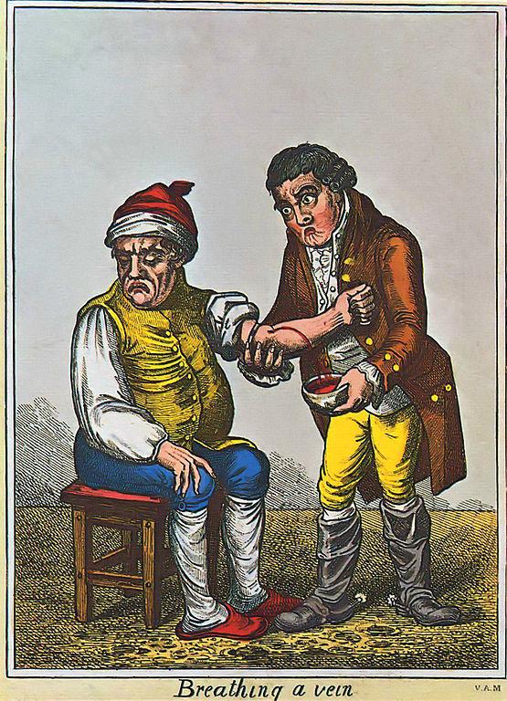 James Gillray: Der Aderlass (um 1805)